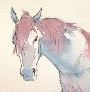 Purple Horse detail