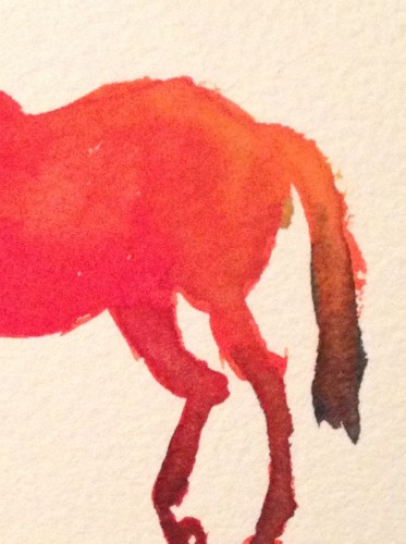 Detail from Bright Red Horse